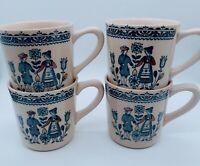 Johnson Brothers Hearts And Flowers Set of 4 Four Coffee Tea Mugs England