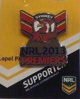 SYDNEY ROOSTERS 2013 NRL PREMIERS TIE PIN BADGE