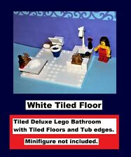 Deluxe Tiled Bathroom Toilet Sink Tap Faucet Tub Shower WC - MADE OF LEGO BRICKS