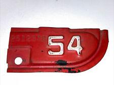 1954 Original California YOM Car Truck License Plate Metal Corner Tag, As Is