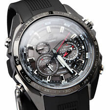 Men's CASIO EQS-500C-1A1 Analog Quartz Solar Powered Alarm Neon display with dat