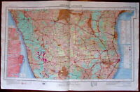 Madras Mysore Bangalore Bay of Bengal c.1979 huge National Atlas of India map