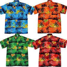 Hawaiian Festival Shirt Holiday BBQ Stag Costume Party Beach Fancy Dress Palm