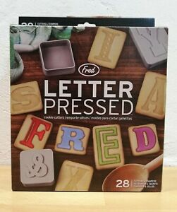 Biscuit Cookie Cutter. Alphabetical Letter Press Brand new In Original Packaging