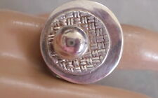 STERLING UNUSUAL RING, W PACIFIER LOOK TOP SIZE 7