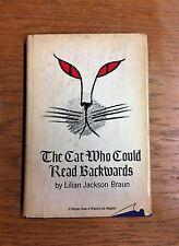Cat Who Could Read Backwards-Lilian J. Braun's 1st Book-1st Ed w Personal Letter