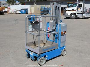 2012 Genie GR-20 20' Electric Vertical Mast Lift Personnel Man Stock bidadoo