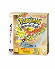 POKEMON ORO (download card in una scatola) per 3 DS 2 DS Nuovo e Sigillato