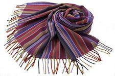 NEU! Webschal 100% Merinowolle violett bunt mehrfarbig