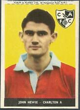 A&BC 1958/59 TOPSTARS-FAMOUS FOOTBALLERS-PLANET #16-CHARLTON ATHLETIC-JOHN HEWIE