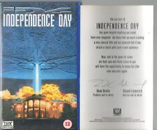 INDEPENDENCE DAY VHS VIDEO WITH HOLOGRAPH ART CARD WILL SMITH JEFF GOLDBLUM