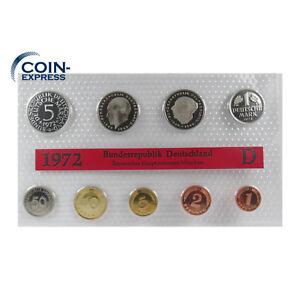*** DM KMS DEUTSCHLAND 1972 D Polierte Platte PP Kursmünzensatz Germany ***