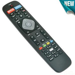 New for Philips 4K Ultra HD Smart TV Remote Contorl w Netflix Vudu NetTV APP Key