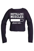 INSTALLING MUSCLES GYM STRINGER BODYBUILDING MUSCLE TRAINING TOP PULLOVER CROP