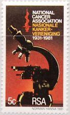 RSA SÜDAFRIKA SOUTH AFRICA 1981 589 Natl. Krebsforschungsgesellschaft Medizin **