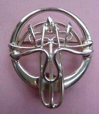 Scottish Ola Gorie Silver Brooch Charles Rennie Mackintosh Queens Cross Church