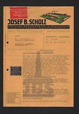 WUPPERTAL-ELBERFELD, 2x Brief 1939, Etiketten-Fabrik Josef B. Scholz