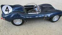 1956 Jaguar Type D F1 race car #4 Sanderson & Lockhart winner LeMans GP CMR box