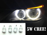 4 X Canbus Cree 501 LED Bulbs Xenon White Halo Rings Angel Eyes For BMW E60 E61