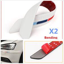 2X White Auto Rear Bumper Guard Edge Rubber Protector Strip Trim Stickers
