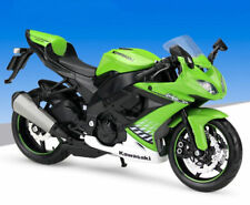 Maisto 1:12 KAWASAKI ZX-10R Motorcycle Bike Model Green White New