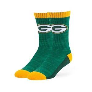 Green Bay Packers NFL '47 Brand Crew Length Socks - Large (9 - 13) New