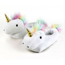 3D Unicorn Slippers Plush Soft Warm Winter Shoes Fluffy Unisex Cartoon Cute
