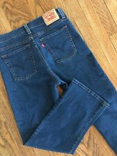 """Women's Levi's 512 Perfectly Slimming Boot Cut Stretch Denim Jeans 10 S x 27"""""""