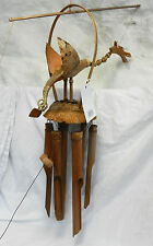 Hand Made Large Bamboo Nodding Dragon Windchime / Mobile - BNWT