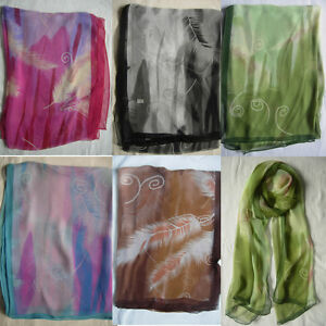 New Feather Design Scarf  Wrap Choose 5 Colour