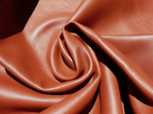 lambskin lamb leather hide Rust Brown full bodied light weight  2-2 1/2oz