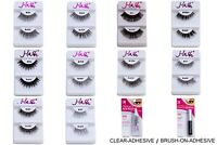 j-lash natural volume looking faux eyelashes (pack of 6 pairs) black