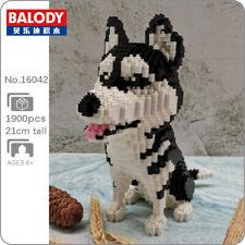 Balody Siberian Husky Dog Animal Pet 3D Model Mini Diamond Blocks Building Toy