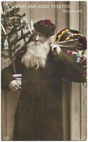 Antique Postcard Santa Claus Christmas Tree Yuletide Toys Schwerdtfeger Clause