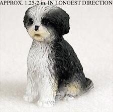 Shih Tzu Mini Figurine Black/White Puppy Cut