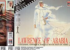 LAWRENCE OF ARABIA - *SIGNED* - 2x VHS-PAL-NEW-Never played!-Original Oz release