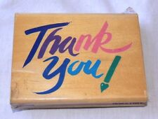 "Stamp - ""Thank You!"" Words Mounted Rubber on Wood"