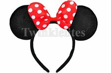 Minnie Mouse Ears Headband Polka Dots Plush Birthday Favors Party Costume Gift
