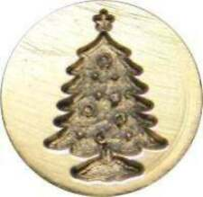 "Christmas Tree Wax Seal Stamp (3/4"" brass seal, brass handle) slightly irregular"