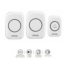 Waterproof 300m Wireless Door Bell Chime 1 Transmitter with 2 Receivers