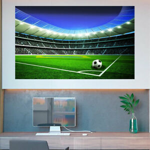 Football Stadium Soccer Fan Sports Poster Kids Mural Photo Picture Wall mural