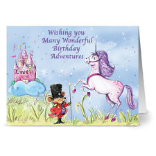 24 Note Cards - Birthday Mouse and Unicorn - Plum Purple Envs
