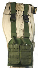 Olive MOLLE Leg Magazine Pouch 4 Single Detachable Open Top Pouches M16 M4 5.56