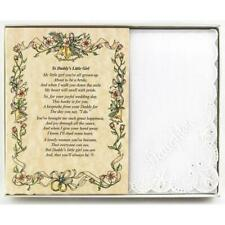 From the Father of the Bride to his Daughter Wedding Handkerchief