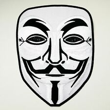 """""GIANT""""  ANONYMOUS - ""V For Vendetta"" Guy Fawkes X-Large Iron-On Jacket Patch!"