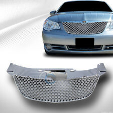Fits 07-10 Chrysler Sebring Chrome Mesh Front Bumper Grill Grille Guard ABS