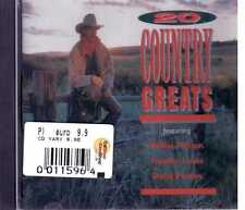 20 GREAT COUNTRY SONGS WILLIE NELSON LAINE PARTON CD SEALED SIGILLATO
