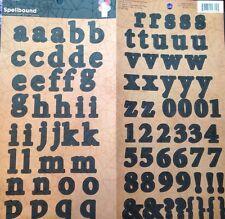 """Halloween""""Black Alphabet""""SPELLBOUND SPIDERWEB Lowercase(101 pc)Cardstock Sticker"""