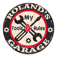"""Dont Touch My OUTILS.. Garage Règles/"""" /""""Drôle Pin Up Medium Métal Acier Mural Signe"""