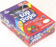 Dorval Top Pops Chewy Taffy Candy Lollipops 48 Count Box Assorted Fruit Flavors